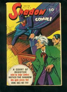 SHADOW COMICS v.6 #3 1946-SHADOW-DOC SAVAGE-PLAYING CARDS-fine FN