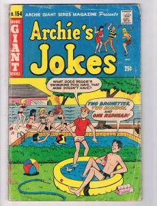 Archie's Jokes #154 GD/VG Archie Giant Series Comic Book DE5
