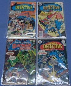 Four DC Batmans Detective Comics & Batman & Batgirl 466 467 468 413 Neal Adams +