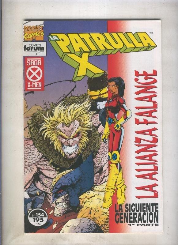 La Patrulla X volumen 1 numero 154: La alianza falange (numerado 1 en trasera)
