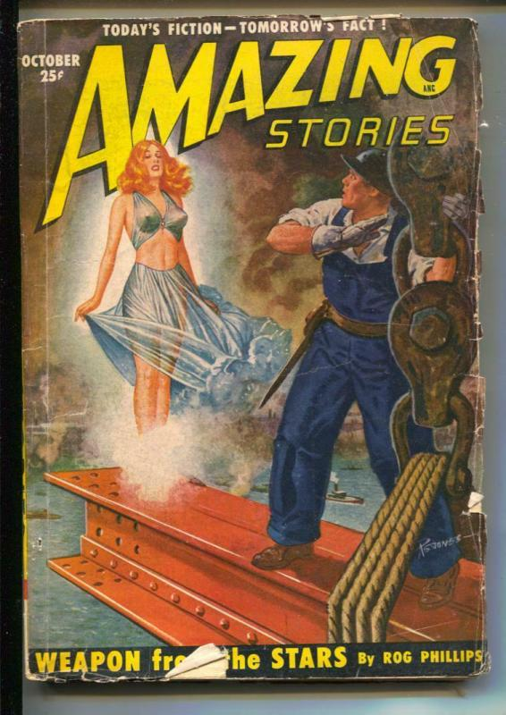 Amazing Stories-Pulp-10/1950-Rog Phillips-Alexander Blade