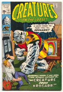 Creatures On The Loose #13 1971- Marvel Horror- FN-