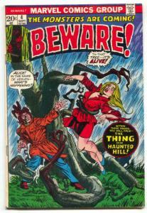 Beware #4 1973- Marvel Horror comics VG+