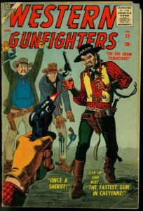 Western Gunfighters #25 1957- Atlas Comics- Russ Heath- Maneely FAIR