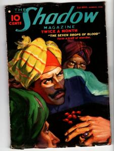 SHADOW 1936 December 1 -HIGH GRADE- STREET AND SMITH-RARE PULP FN-
