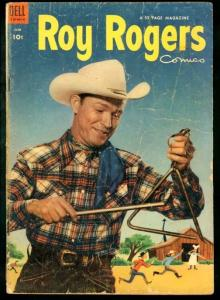 ROY ROGERS COMICS #66-DINNER BELL COVER DELL 1953 MOVIE G/VG