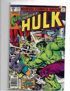 The Incredible Hulk #255 FN+ - (Jan. 1981, Marvel) Hulk vs. Thor