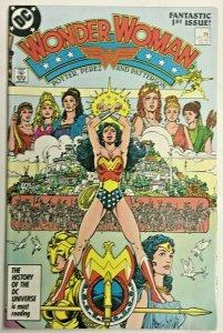 WONDER WOMAN#1 VF 1987 GEORGE PEREZ DC COMICS