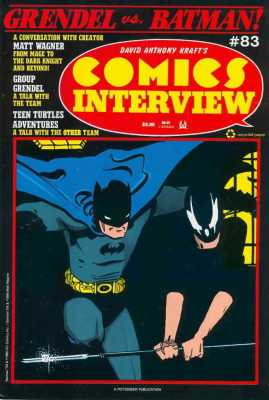 Comics Interview #83 VF/NM; Fictioneer | save on shipping - details inside