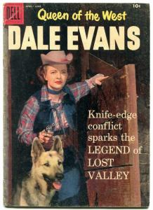Queen of The West Dale Evans #19 1958- German Shepherd cover VG