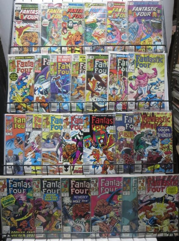 FANTASTIC FOUR 26 ISSUE LOT! A SURVEY FROM THE 70s TO THE 90s! FINE OR BETTER!