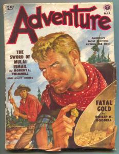 Adventure Pulp March 1950- Fatal Gold- Sword Mulai Ismail