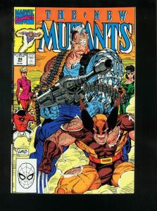 THE NEW MUTANTS #94 1990-ROB LIEFELD-CABLE v WOLVERINE VF/NM