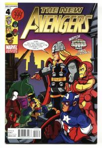 New Avengers #4-2010-Castellani Variant Cover-comic book