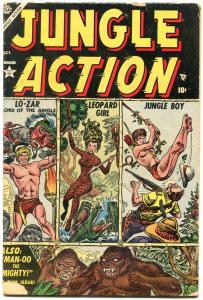Jungle Action #1 1954-LO ZAR-LEOPARD GIRL-GORILLA COVER g/vg