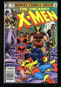 Uncanny X-Men #155 NM 9.4 Newsstand Variant 1st Brood!