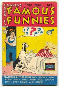 Famous Funnies #182 1949- Buck Rogers- Dickie Dare VG
