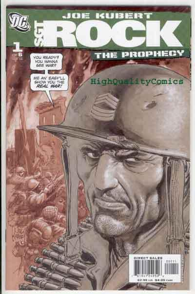 SGT ROCK PROPHECY #1 2 3 4 5 6, NM+, Joe Kubert, War, WWII, more in store, 1-6,B