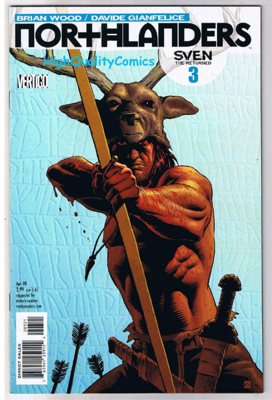 NORTHLANDERS #3, NM, Variant, Vikings, Vertigo, Brian Wood, 2008, more in store
