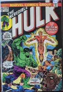 The Incredible Hulk #178 (1974) ADAM WARLOCK DEATH!! NM+