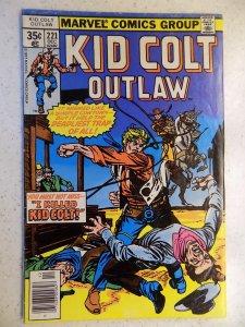 KID COLT OUTLAW # 221 MARVEL BRONZE WESTERN ACTION ADVENTURE GUN VG/FN