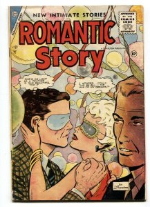 Romantic Story #30 1956- Charlton- Wild masquerade cover by Jon D'Agostino.