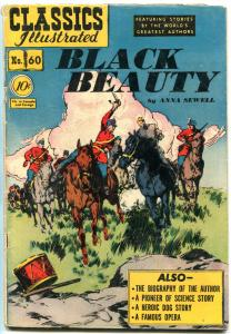 Classics Illustrated #60 HRN 62- Black Beauty EGYPTIAN COLLECTION