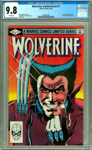 Wolverine Limited Series #1 CGC Graded 9.8 White pages, 1st Solo Wolverine
