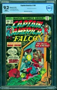 Captain America #186 CBCS NM- 9.2 White Pages Marvel Comics