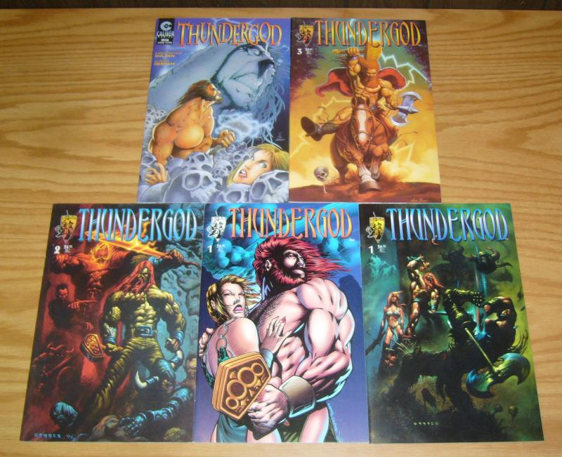Thundergod #1-3 VF/NM complete series + variant + special ERIC POWELL thor set 2