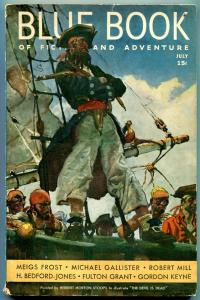 Blue Book Pulp July 1936- Pirate cover- Meigs Frost- Michael Gallister