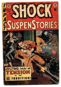 Shock SuspenseStories #14 comic book 1954-EC violent Wally Wood cover
