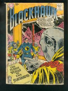 BLACKHAWK COMICS #129 1958-DC COMICS-ROCKET COVER-fair cond FR