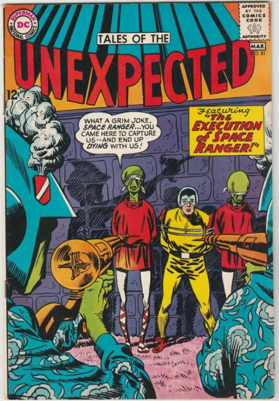 Tales of the Unexpected #81 (Mar-64) VF High-Grade Space Ranger, Cyrl