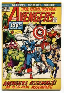 Avengers #100 1972- Classic Barry Smith cover- All members assemble VF+