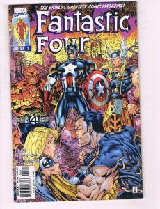 Fantastic Four #3 VF Marvel Comic Book Jim Lee Art Thing Captain America 97 DE11