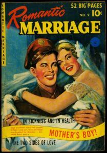 Romantic Marriage #2 1950- Golden Age Romance- Ziff-Davis G/VG