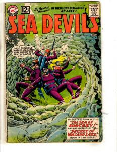 Sea Devils #4 VG DC Silver Age Comic Book Sea Of Sorcery Secret Volcano Lake JL1