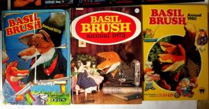 Basil Brush - 3 British Annuals UK HB VG\+ puppet fox tv show 1973 1979 1980