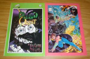 DragonQuest #1-2 VF/NM complete series - tim vigil art - silverwolf comics set