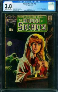 HOUSE OF SECRETS #92 CGC 3.0 FIRST SWAMP THING-BERNI WRIGHTSON 1250931013