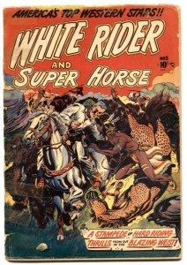 White Rider and Super Horse #5 1950-LB COLE cover- low grade