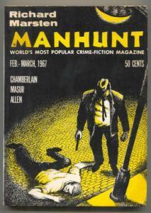 Manhunt Pulp February 1967- Richard Marsten