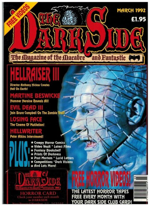 DARK SIDE (BRITISH) 18 (W/CARD; MARCH 1992) VF-NM HELLR