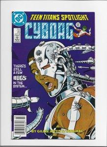 Teen Titans Spotlight #20 (1988) VFNM Cyborg and Changeling! Newsstand Edition!