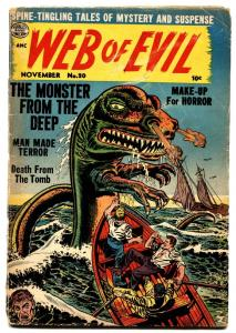 WEB OF EVIL #20-1954 SEA MONSTER-pre code horror-Comic Book