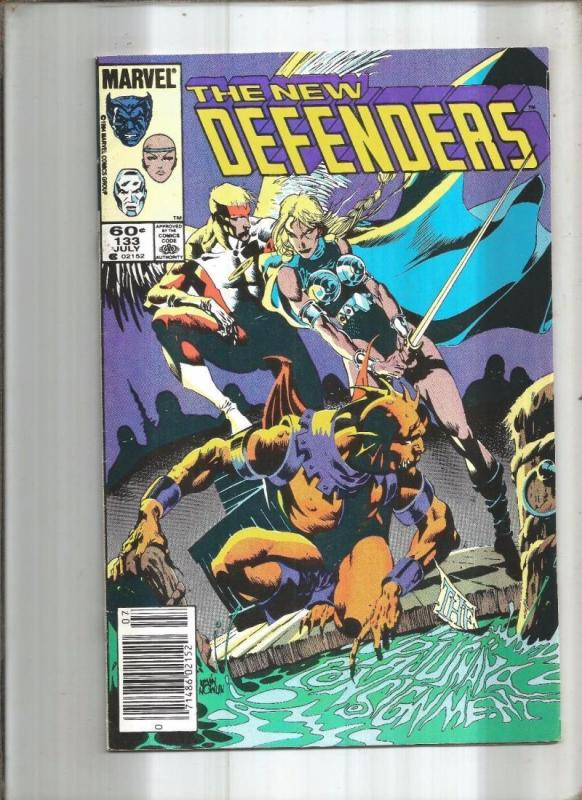 DEFENDERS #133, VF/NM, Valkyrie, Gargoyle, Angel, 1972 1984, Marvel, upc