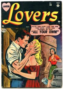 Lovers #40 1952-Confessions of Hollywood Extra! Atlas Romance Comic- VG+