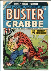 Buster Crabbe #3 1954-Lev Gleason-tiger fight cover-Alex Toth-sci-fi-G