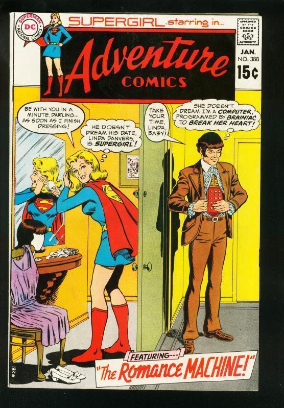 ADVENTURE COMICS #387 1969-SUPERGIRL-ROMANCE MACHINE-DC COMICS-FN/VF